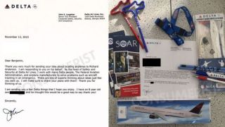 Delta executives consider 8 year old's idea to improve plane safety