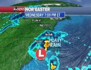 Nor'easter set to bring heavy rain, wind to Northeast
