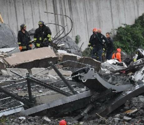 The Latest: Reports say 11 killed in Genoa bridge collapse