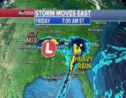 Storm that drenched the South moving into Northeast for weekend