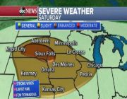 Plains at risk for severe storms while heat returns to Northeast
