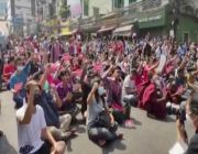 Thousands protest Myanmar coup despite internet ban