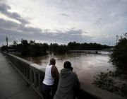Swollen rivers near record levels as Florence looms