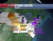 Snow and strong winds expected in Midwest, Northeast