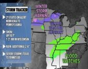 Snow, severe weather and flood threats across the Eastern US