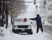 Wintry storm ices roads across much of US Southeast