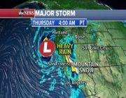 Stormy weather stretches from West Coast to Midwest